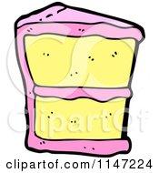 Cartoon Of A Cake Slice Royalty Free Vector Clipart