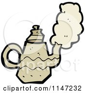 Cartoon Of A Tea Pot Royalty Free Vector Clipart by lineartestpilot