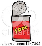 Cartoon Of A Food Can Royalty Free Vector Clipart