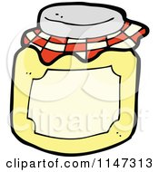 Cartoon Of A Jar Of Honey Royalty Free Vector Clipart