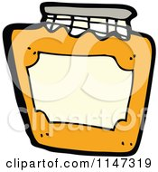 Cartoon Of A Jar Of Marmalade Fruit Preserves Royalty Free Vector Clipart