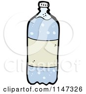 Cartoon Of A Bottled Carbonated Water Royalty Free Vector Clipart by lineartestpilot