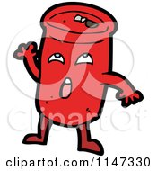 Cartoon Of A Soda Can Mascot Royalty Free Vector Clipart