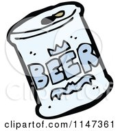 Cartoon Of A Beer Can Royalty Free Vector Clipart