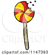 Cartoon Of A Lolli Pop Royalty Free Vector Clipart