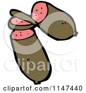 Cartoon Of A Sausage Royalty Free Vector Clipart by lineartestpilot