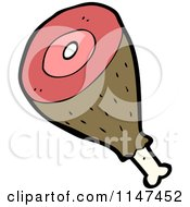 Cartoon Of A Drumstick Royalty Free Vector Clipart