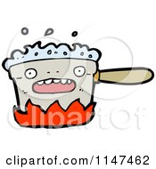 Cartoon Of A Kitchen Pot Mascot Royalty Free Vector Clipart by lineartestpilot