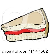 Cartoon Of A Pie Slice Royalty Free Vector Clipart by lineartestpilot