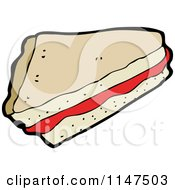 Cartoon Of A Slice Of Pie Royalty Free Vector Clipart by lineartestpilot
