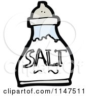 Cartoon Of A Salt Shaker Royalty Free Vector Clipart