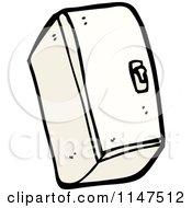 Cartoon Of A Refrigerator Royalty Free Vector Clipart