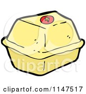 Cartoon Of A Take Out Container Royalty Free Vector Clipart by lineartestpilot