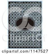 Black Frame Over Blue Designs With Grunge