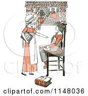 Clipart Of Retro Vintage Girls Learning Latin Royalty Free Vector Illustration by Prawny Vintage