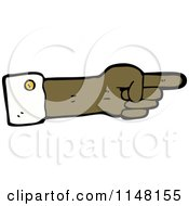 Cartoon Of A Pointing Hand Royalty Free Vector Clipart