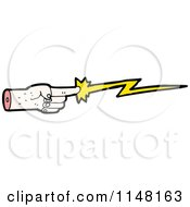 Cartoon Of A Pointing Finger Casting A Magic Spell Royalty Free Vector Clipart