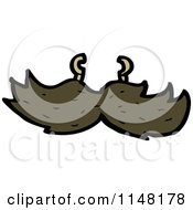 Cartoon Of A Mustache Royalty Free Vector Clipart