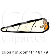 Cartoon Of A Rolled Cigarette Royalty Free Vector Clipart