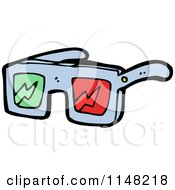 Pair Of 3d Movie Glasses