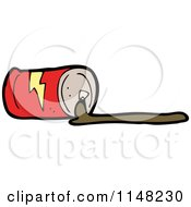 Cartoon Of A Spilled Soda Can Royalty Free Vector Clipart by lineartestpilot