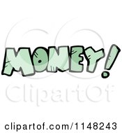 Cartoon Of The Word Money Royalty Free Vector Clipart by lineartestpilot