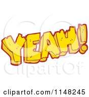 Cartoon Of The Word Yeah Royalty Free Vector Clipart by lineartestpilot