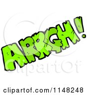 Cartoon Of A Comic Sound Arrgh Royalty Free Vector Clipart by lineartestpilot