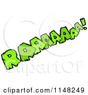 Cartoon Of A Comic Sound Raaaaaaa Royalty Free Vector Clipart by lineartestpilot