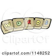 Cartoon Of Alphabet Letter Blocks Spelling WORDS Royalty Free Vector Clipart