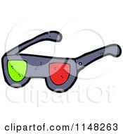 Pair Of 3d Movie Glasses