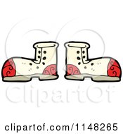 Cartoon Of A Pair Of Boots Royalty Free Vector Clipart by lineartestpilot