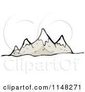 Cartoon Of A Mountain Range Royalty Free Vector Clipart