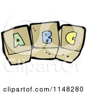 Cartoon Of Abc Alphabet Letter Blocks Royalty Free Vector Clipart by lineartestpilot