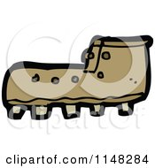 Cartoon Of A Boot Royalty Free Vector Clipart by lineartestpilot