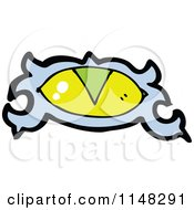 Cartoon Of A Mystic Eye Royalty Free Vector Clipart by lineartestpilot