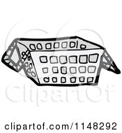 Cartoon Of A Shopping Basket Royalty Free Vector Clipart