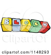 Cartoon Of Abc Alphabet Letter Cubes Spelling Blocks Royalty Free Vector Clipart