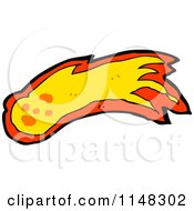Cartoon Of A Shooting Fireball Or Asteroid Royalty Free Vector Clipart