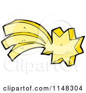 Cartoon Of A Shooting Star Royalty Free Vector Clipart by lineartestpilot
