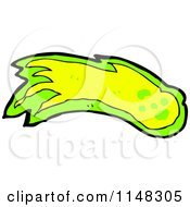 Cartoon Of A Shooting Green And Yellow Fireball Or Asteroid Royalty Free Vector Clipart