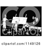 Clipart Of A Retro Vintage Black And White Teacher And School Kids Going Over Math Royalty Free Vector Illustration by Prawny Vintage