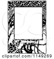 Clipart Of A Retro Vintage Black And White Thorn Border Royalty Free Vector Illustration