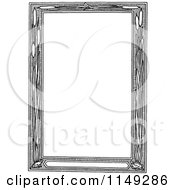 Clipart Of A Retro Vintage Black And White Cattail Frame Royalty Free Vector Illustration