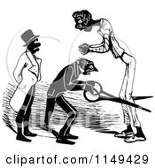 Clipart Of A Retro Vintage Black And White Taylor Cutting A Mans Legs Royalty Free Vector Illustration by Prawny Vintage