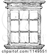Clipart Of A Retro Vintage Black And White Window Royalty Free Vector Illustration by Prawny Vintage