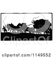 Clipart Of A Retro Vintage Black And White Silhouetted Horse Drawn Carriage Royalty Free Vector Illustration by Prawny Vintage