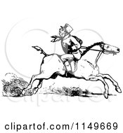 Clipart Of A Retro Vintage Black And White Man Riding A Horse Backwards Royalty Free Vector Illustration by Prawny Vintage