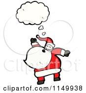 Cartoon Of A Thinking Santa Royalty Free Vector Clipart
