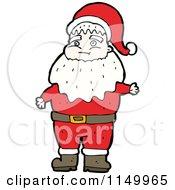 Cartoon Of Santa Royalty Free Vector Clipart